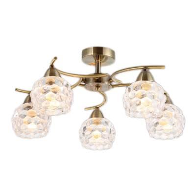 Lámpara 5 luces cuero burbujas