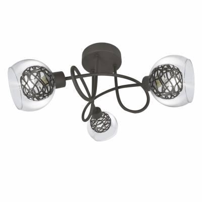 Lámpara 3 luces Floki, plafón moderno
