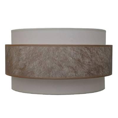 Lámpara de techo Triple, tela oro