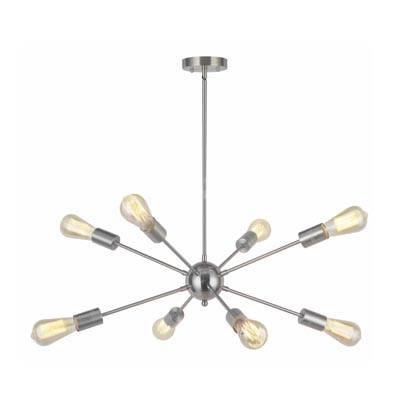 Lampara Sputnik 8l niquel