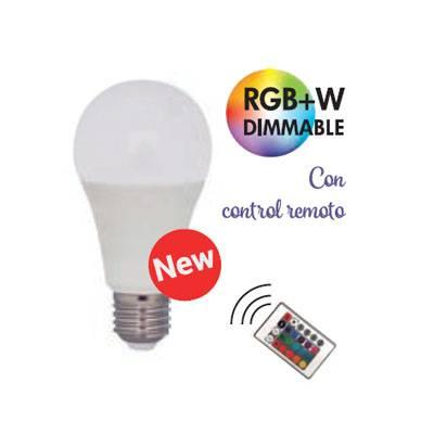 Bombilla led Rgb+w 9w + mando a distancia