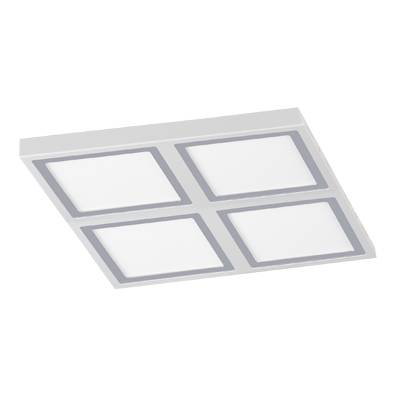Plafon cuadrado led  blanco 4x6w bisel inox
