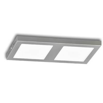 Plafon 2x18w led plata