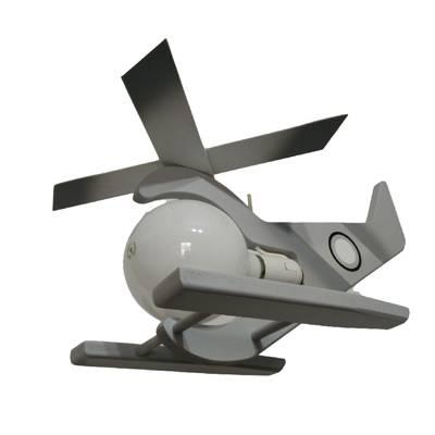 Lampara colgante Helicóptero gris