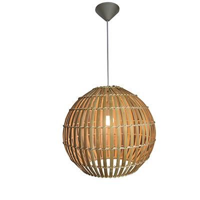 Lámpara de techo Embo Madera natural, redonda