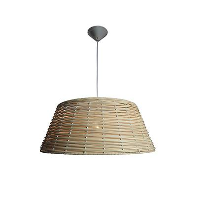 Lámpara colgante Lina, blanco, madera