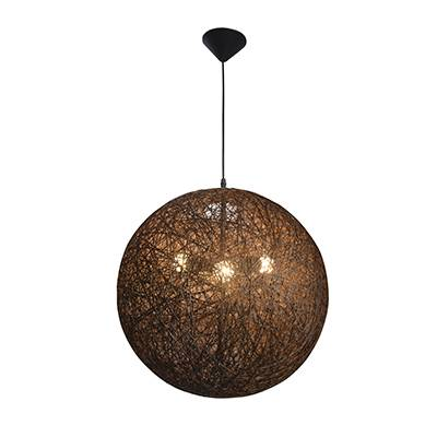 Lámpara colgante Lina madera natural