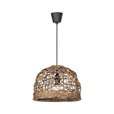 Lámpara colgante Cave, madera de rattan