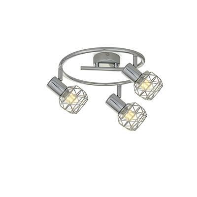 Plafón de 3 luces Thao cromo