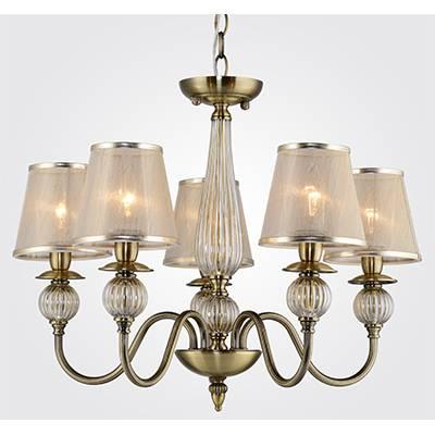 Lámpara de techo colgante 5 luces cuero