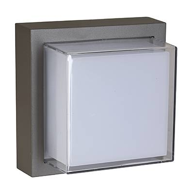 Plafón cubo Gris oscuro, exterior