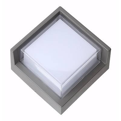 Aplique Led de exterior cuadrado, gris oscuro