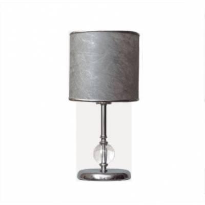 Lámpara de mesita de noche plata