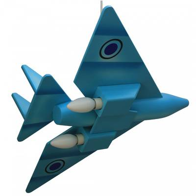 Lampara colgante reactor azul