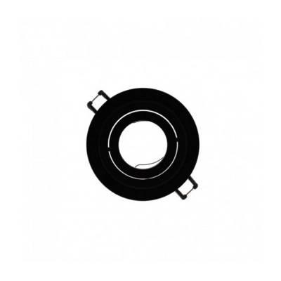 Empotrable Helium redondo negro