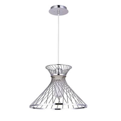 Lámpara colgante cromo koda, lámpara de techo campana