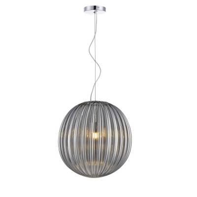 Lámpara de techo colgante Bola, cristal Fume 30cm DM