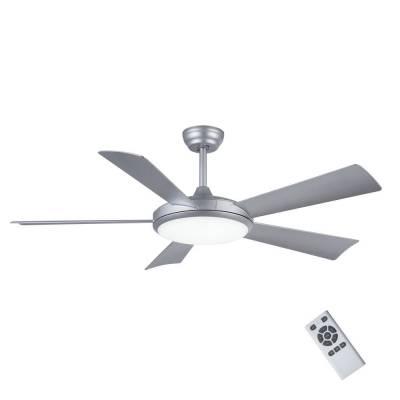 Ventilador de techo Plane Dc, plata, 24W 3 tonos de luz