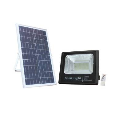 Proyector solar 100w negro + mando