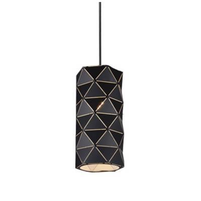 Lámpara colgante cilíndrica  triángulos