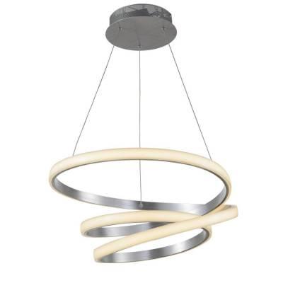Lámpara colgante LED 96W aluminio plata