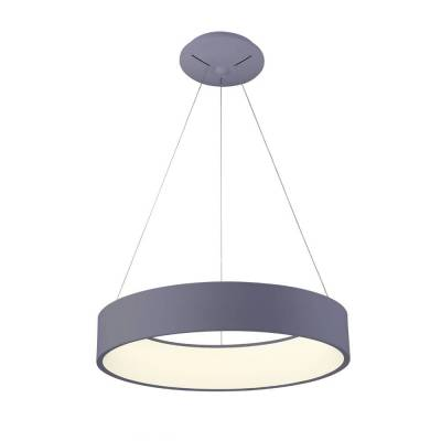 Lámpara de techo Led colgante gris 27W 4000k 45cm diámetro