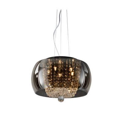 Lámpara colgante Nadine Smoky, 40 cm