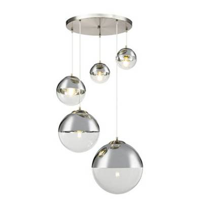 Lámpara de techo colgante Varus níquel 5L