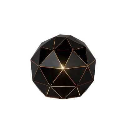 Lámpara sobremesa esférica negro-oro estructura triángulos