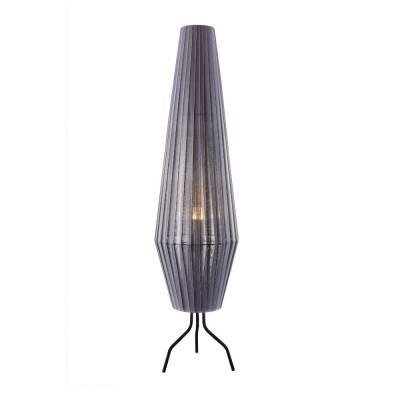 Lámpara de pie cote gris, tulipa de tela