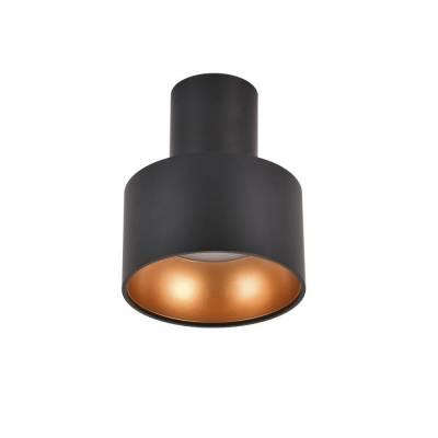 Plafon led negro-oro