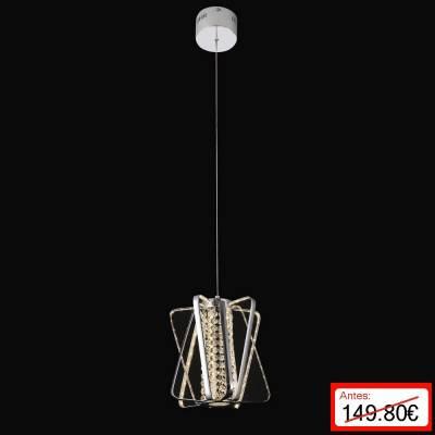 Lámpara colgante Vigas Cromo