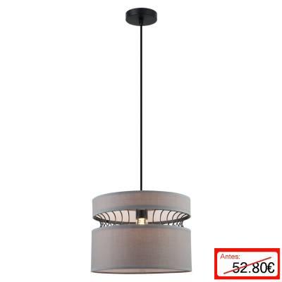 Lámpara colgante Hong Kong gris oscuro