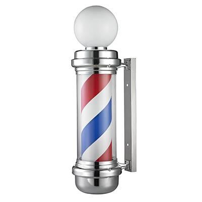 Aplique de pared barbería, franjas rojas y azules