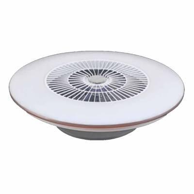 Plafon con ventilador filo plata