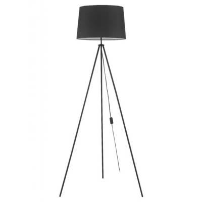 Lámpara de pie Trípode negro