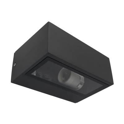 Aplique gris oscuro rectangular