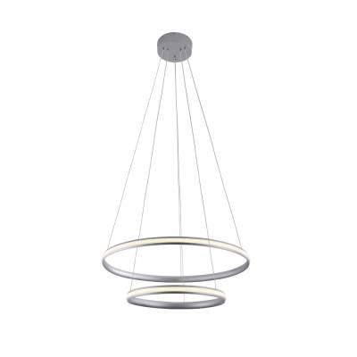 Lámpara colgante Isis II plata