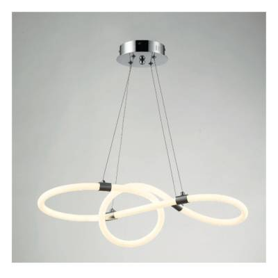 Lámpara colgante Wave 65w cromo