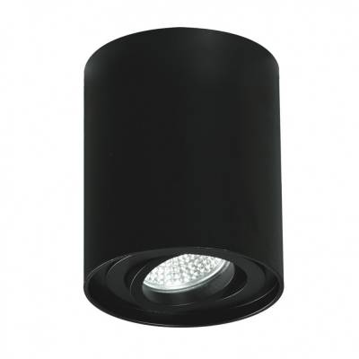 Cilindro GU10 negro