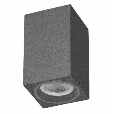 Foco cubo superficie gris metalizado